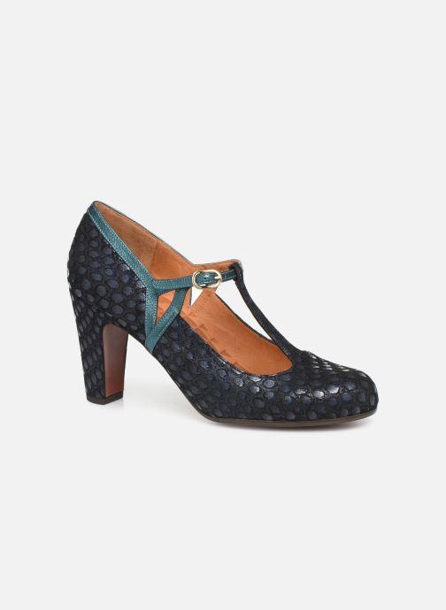Høje hæle Chie Mihara Krom Blå detaljeret billede af skoene