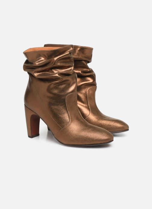 Ankle boots Chie Mihara Evil Bronze and Gold 3/4 view