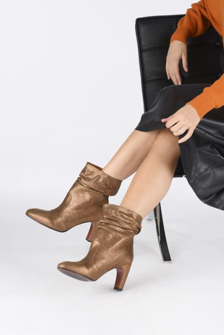 Bottines et boots Chie Mihara Evil Or et bronze vue bas / vue portée sac