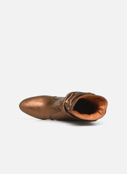 Bottines et boots Chie Mihara Evil Or et bronze vue gauche