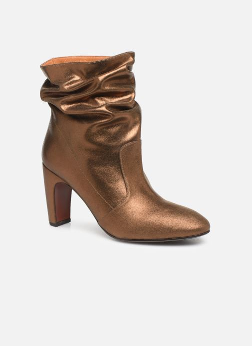 Ankle boots Chie Mihara Evil Bronze and Gold detailed view/ Pair view