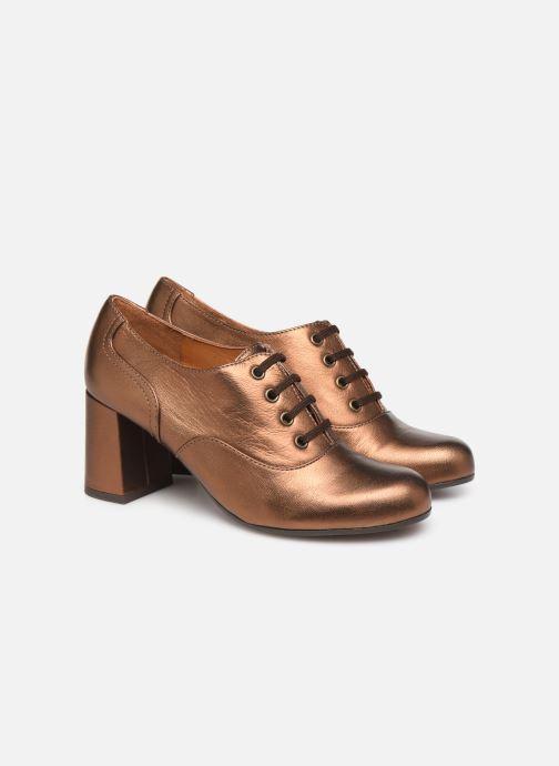 Zapatos con cordones Chie Mihara Musai Oro y bronce vista 3/4