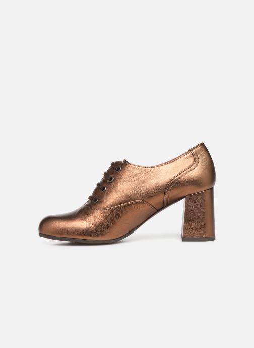 Zapatos con cordones Chie Mihara Musai Oro y bronce vista de frente