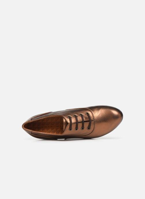 Zapatos con cordones Chie Mihara Musai Oro y bronce vista lateral izquierda