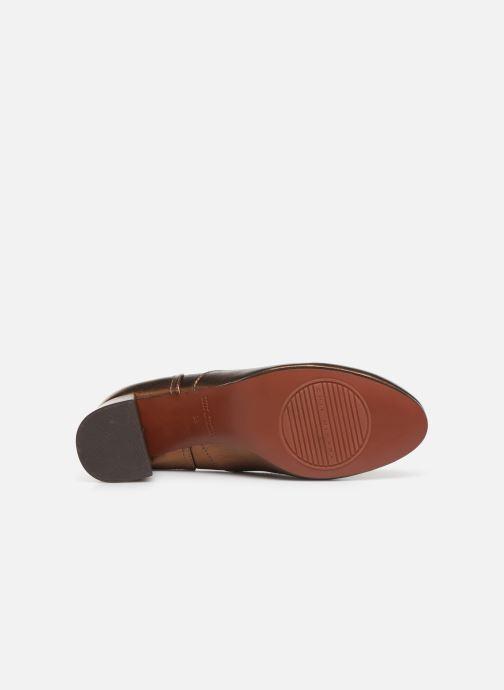 Zapatos con cordones Chie Mihara Musai Oro y bronce vista de arriba