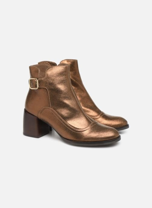 Ankle boots Chie Mihara OR Omayo35 Bronze and Gold 3/4 view