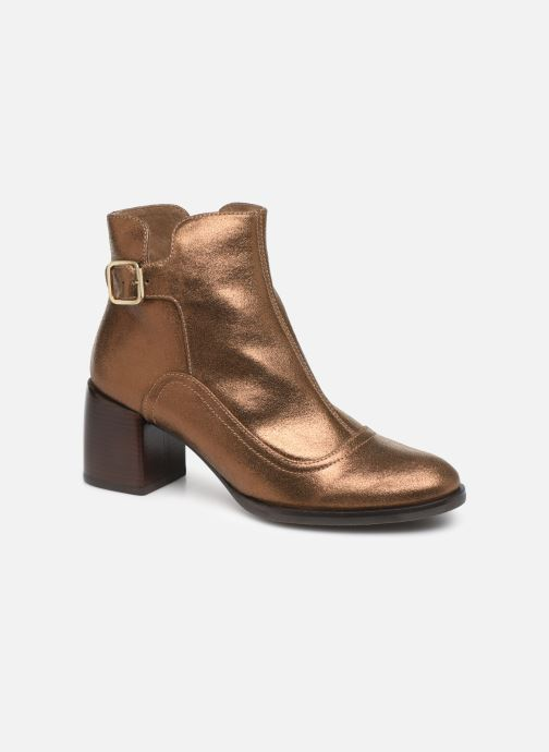Ankle boots Chie Mihara OR Omayo35 Bronze and Gold detailed view/ Pair view