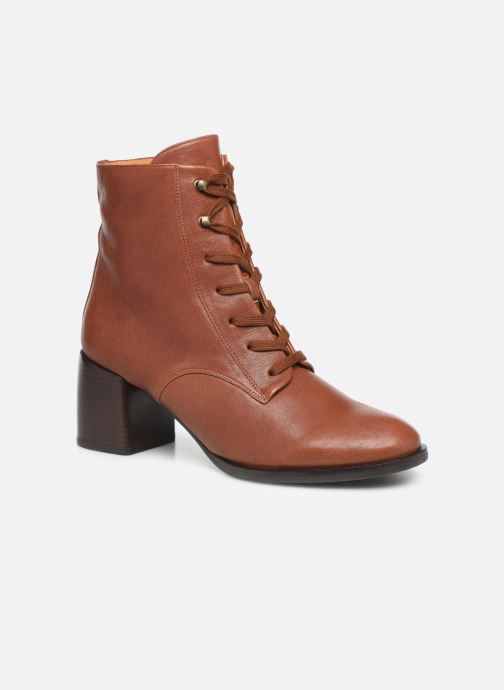 Ankle boots Chie Mihara OR Omast Brown detailed view/ Pair view