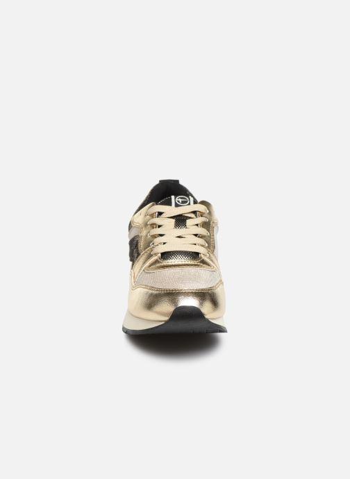 Baskets Tamaris BICO Or et bronze vue portées chaussures