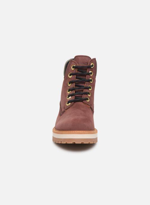 Bottines et boots Lumberjack KRISTY Bordeaux vue portées chaussures