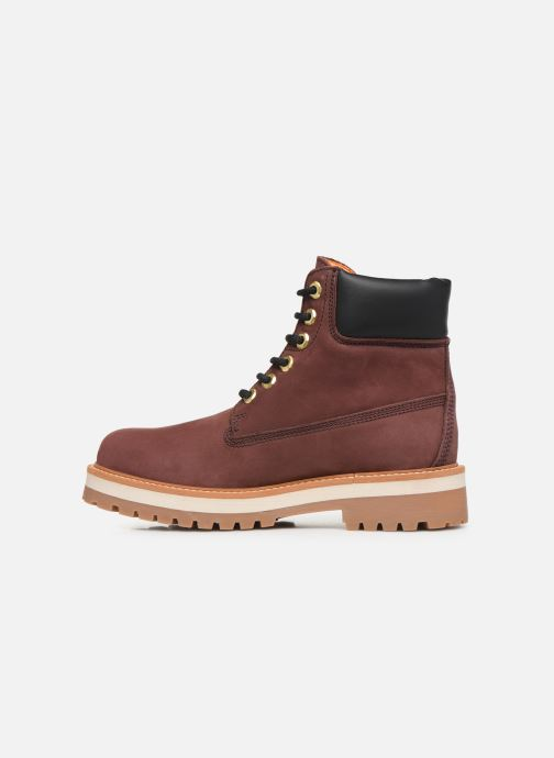 Bottines et boots Lumberjack KRISTY Bordeaux vue face
