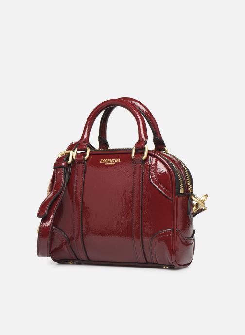 Sacs à main Essentiel Antwerp Tedford handbag Bordeaux vue portées chaussures
