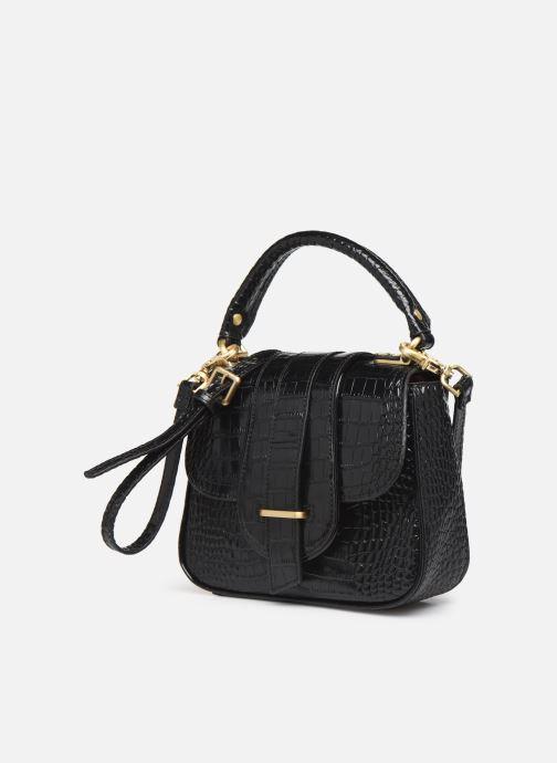 Handtaschen Essentiel Antwerp Trinny Leather small handbag schwarz schuhe getragen