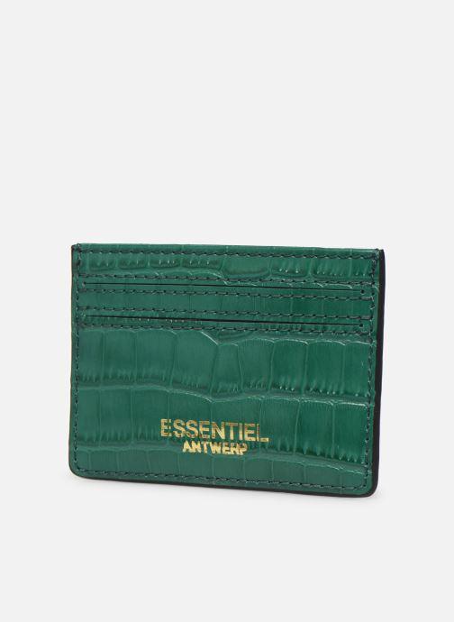 Kleine lederwaren Essentiel Antwerp Tehrani wallet Groen model