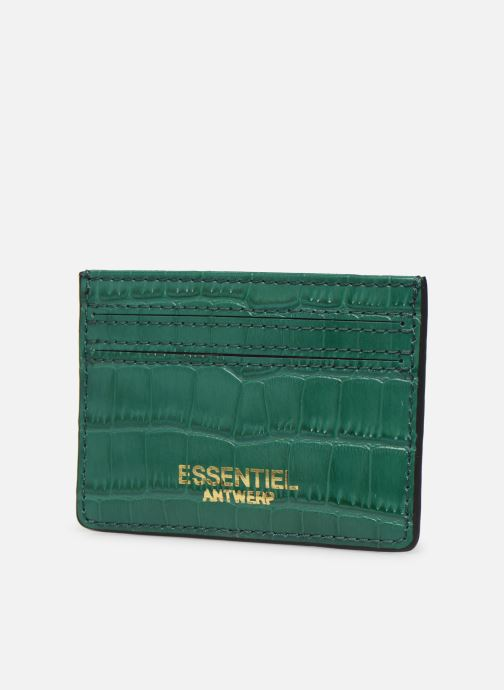 Kleine lederwaren Essentiel Antwerp Tehrani wallet Groen model
