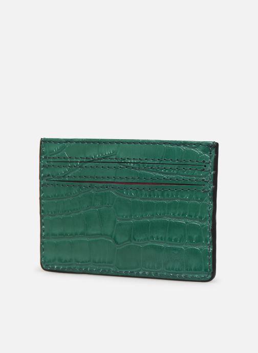 Kleine lederwaren Essentiel Antwerp Tehrani wallet Groen rechts