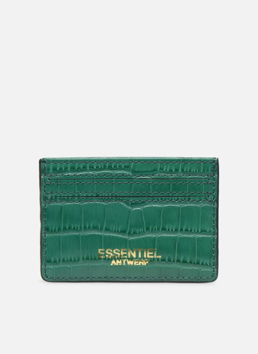 Kleine lederwaren Essentiel Antwerp Tehrani wallet Groen detail