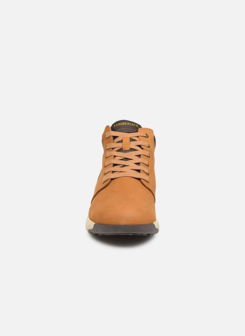 Baskets Lumberjack FREY Jaune vue portées chaussures