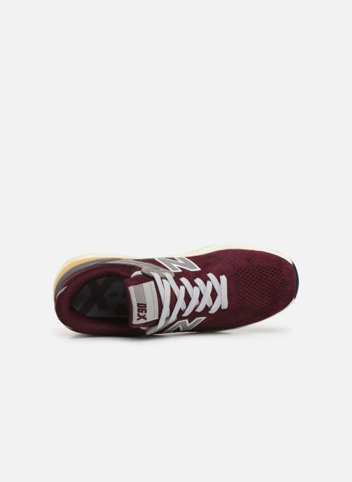 Trainers New Balance MSX90 D Burgundy view from the left