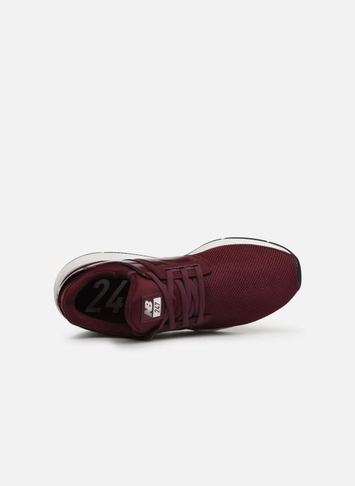Trainers New Balance WS247 B Burgundy view from the left