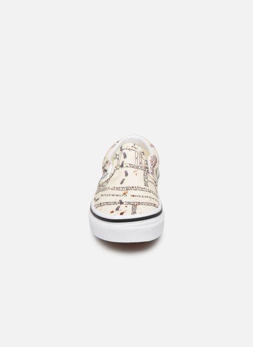 Baskets Vans Classic Slip-On Harry Potter Blanc vue portées chaussures