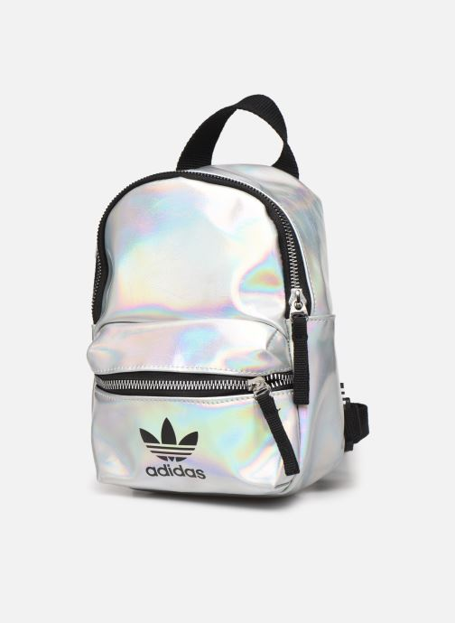 Rucksacks adidas originals BP MINI PU Silver model view
