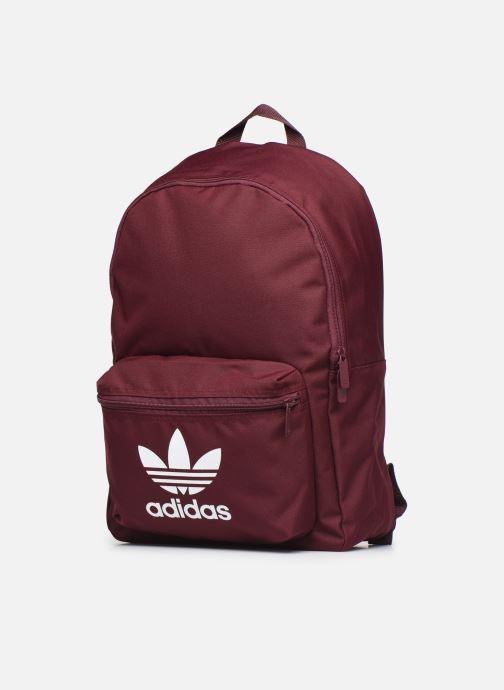 Rucksäcke adidas originals AC CLASS BP weinrot schuhe getragen