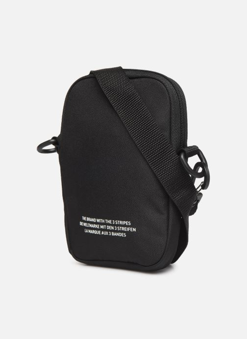 Men's bags adidas originals FEST BAG TREF Black view from the right
