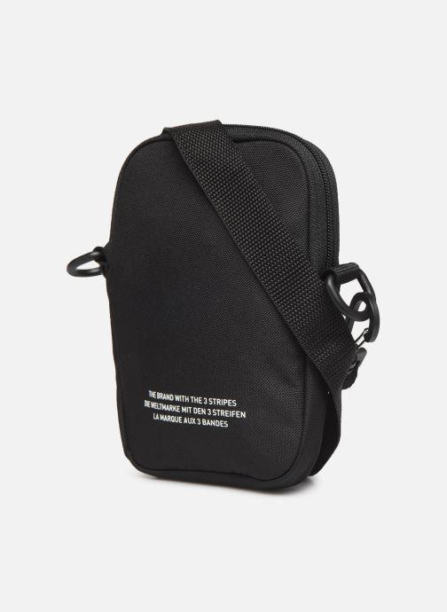 Herrentaschen adidas originals FEST BAG TREF schwarz ansicht von rechts