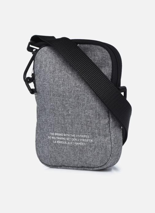 Herrentaschen adidas originals FEST BAG TREF grau ansicht von rechts