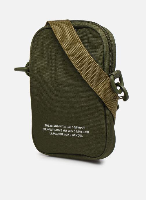 Borse uomo adidas originals FEST BAG TREF Verde immagine destra