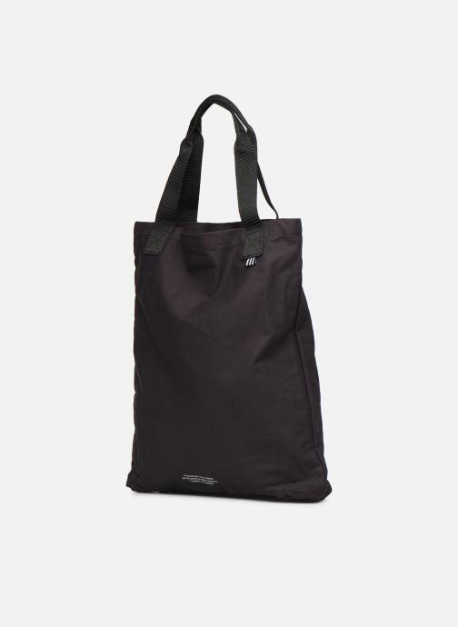 Handtaschen adidas originals BODEGA SHOPPER2 schwarz ansicht von rechts