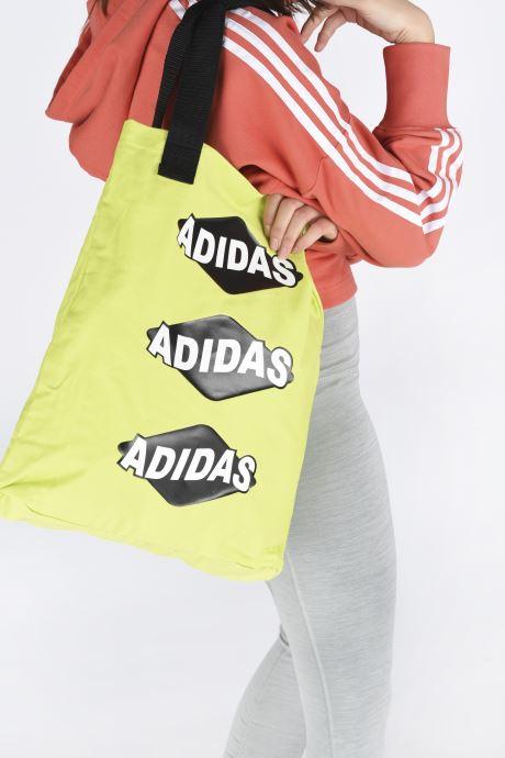 Sacs à main adidas originals BODEGA SHOPPER1 Jaune vue bas / vue portée sac