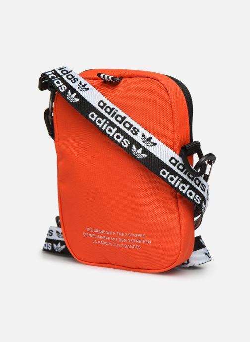 Bolsos de hombre adidas originals VOCAL FEST BAG Naranja vista lateral derecha