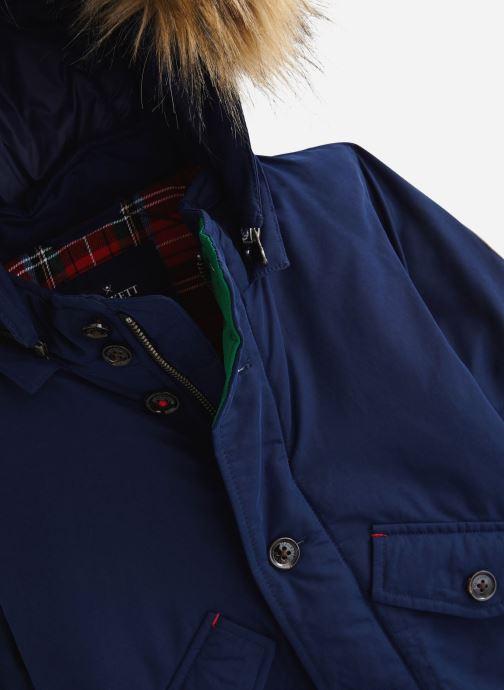 Vêtements Hackett London Arctic Parka Y Bleu vue portées chaussures