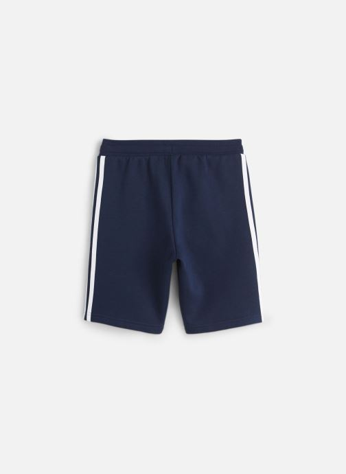 Vêtements adidas originals Fleece Shorts J Bleu vue bas / vue portée sac