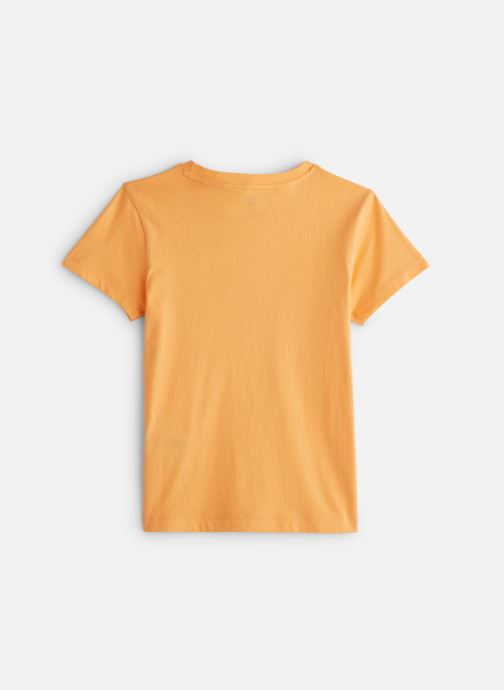 Vêtements adidas originals Graphic Tee J Orange vue bas / vue portée sac