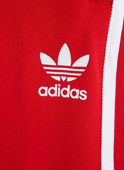 Vêtements adidas originals Trefoil Pants J Rouge vue portées chaussures