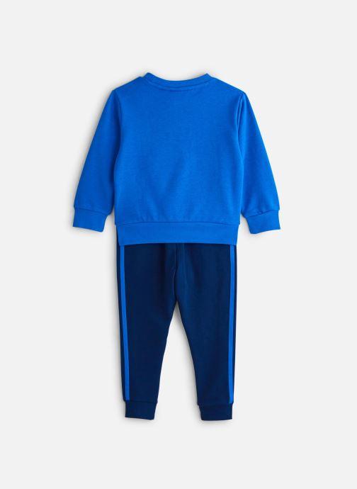 Vêtements adidas originals Crew Set K Bleu vue bas / vue portée sac
