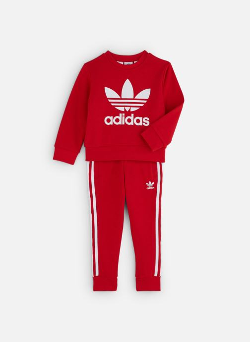 Vêtements adidas originals Crew Set K Rouge vue détail/paire