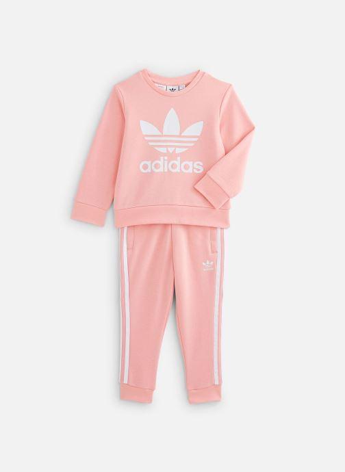 Vêtements adidas originals Crew Set K Rose vue détail/paire