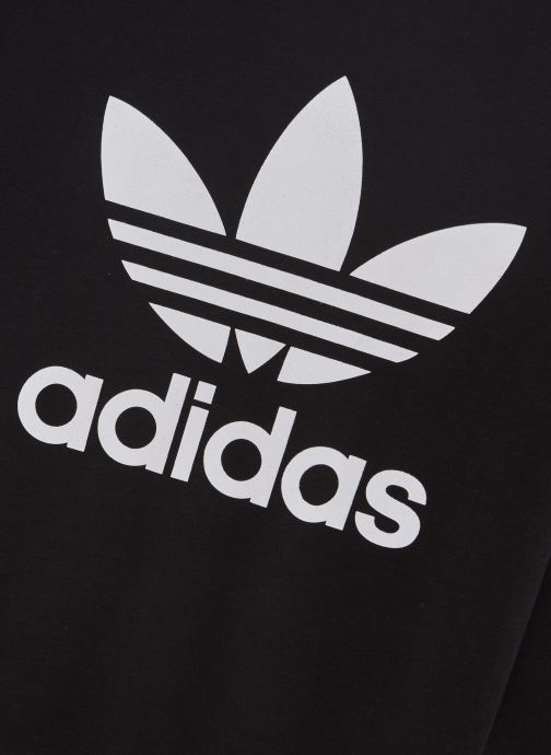 Kleding adidas originals Trefoil Crew J Zwart model