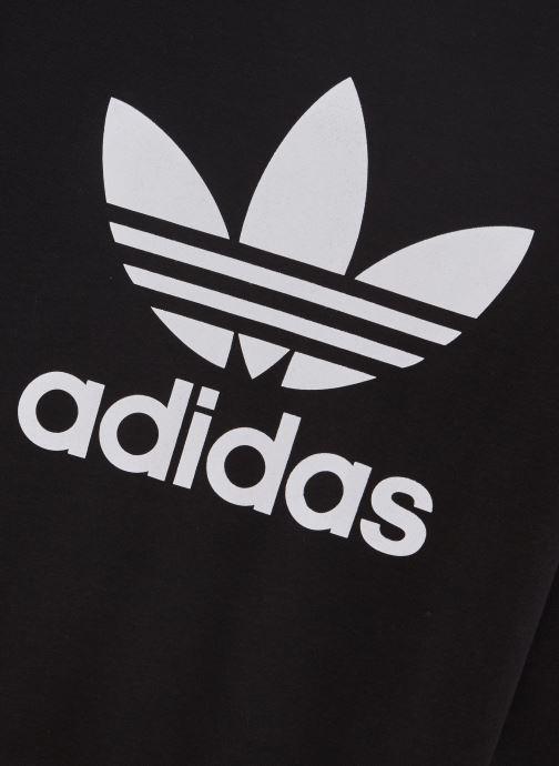 Vêtements adidas originals Trefoil Crew J Noir vue portées chaussures
