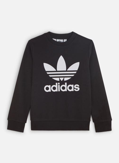 Vêtements adidas originals Trefoil Crew J Noir vue détail/paire