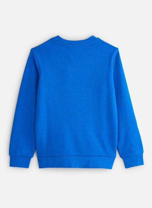 Vêtements adidas originals Trefoil Crew J Bleu vue bas / vue portée sac