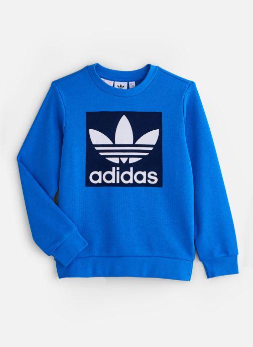 Vêtements adidas originals Trefoil Crew J Bleu vue détail/paire