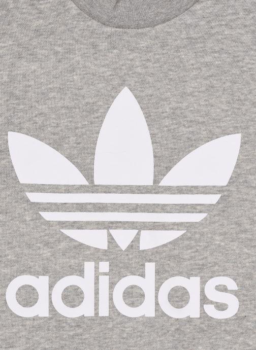 Vêtements adidas originals Trefoil Crew J Gris vue face