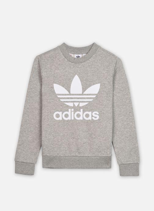Vêtements adidas originals Trefoil Crew J Gris vue détail/paire