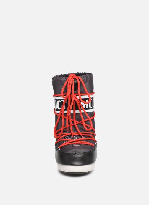 Chaussures de sport Moon Boot Moon Boot JR Boy Tiger Noir vue portées chaussures