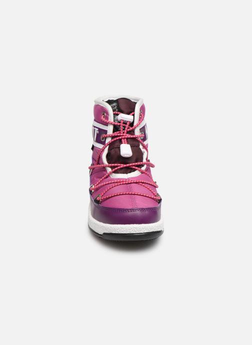 Chaussures de sport Moon Boot Moon Boot JR Boy Mid WP Violet vue portées chaussures